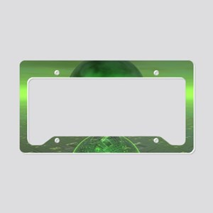 Electronic Green Saturn License Plate Holder