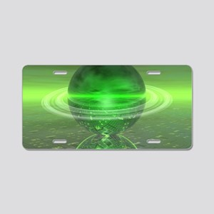 Electronic Green Saturn Aluminum License Plate