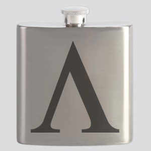 Greek Lambda Spartan Symbol Flask