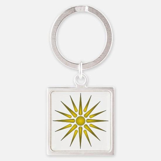 Macedonia Vergina Star Square Keychain
