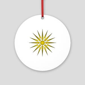 Macedonia Vergina Star Round Ornament