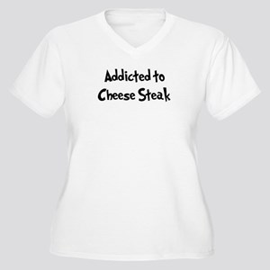Addicted to Cheese Steak Women's Plus Size V-Neck