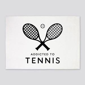 Tennis Addicted. Color choices. * B 5'x7'Area Rug