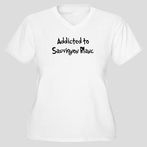 Addicted to Sauvignon Blanc Women's Plus Size V-Ne