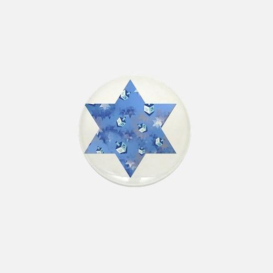 Judaica Dreidels Stars Star Of David Mini Button
