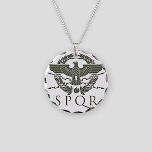 Roman Empire SPQR Necklace Circle Charm