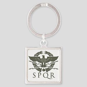 Roman Empire SPQR Square Keychain