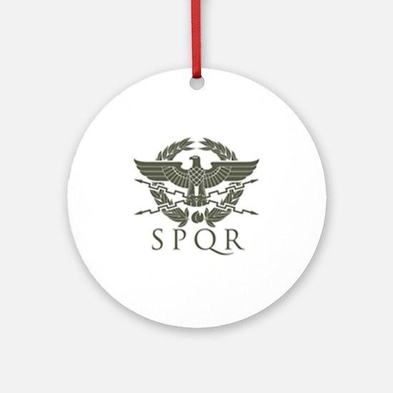 Roman Empire SPQR Round Ornament