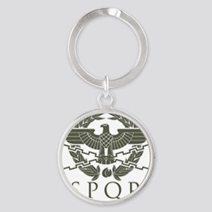 Roman Empire SPQR Round Keychain