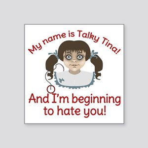 "Talky Tina Twilight Zone Square Sticker 3"" x 3"""