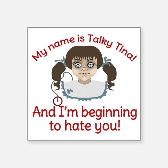 "Talky Tina Twilight Zone Square Sticker 3"" x 3"""