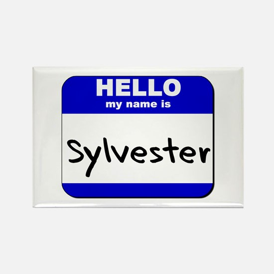 hello my name is sylvester Rectangle Magnet