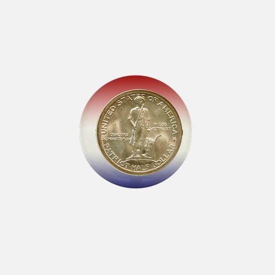 1925 Lexington-Concord Half Dollar Obv Mini Button