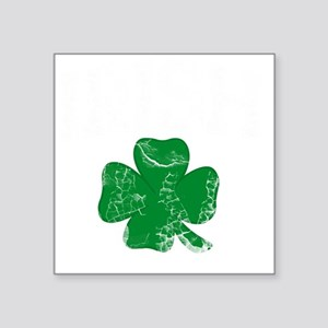 "IRISH, Four Leaf Clover, Vi Square Sticker 3"" x 3"""
