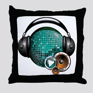 Press Play - Music Festival Shirt Throw Pillow