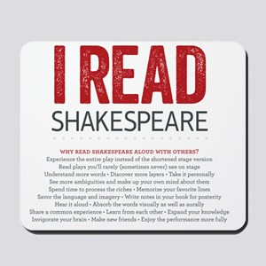 I Read Shakespeare and why Mousepad
