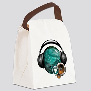 Press Play - Music Festival Shirt Canvas Lunch Bag