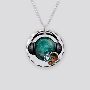 Press Play - Music Festival  Necklace Circle Charm