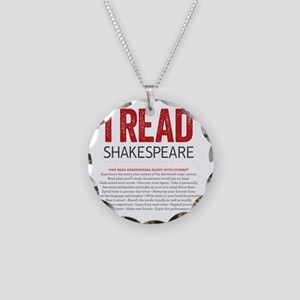 I Read Shakespeare and why Necklace Circle Charm