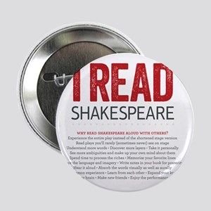 """I Read Shakespeare and why 2.25"""" Button"""