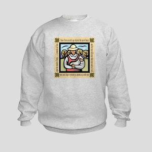 Vegetarian da Vinci Quote Kids Sweatshirt