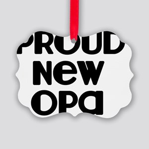 Proud New Opa-blk Picture Ornament