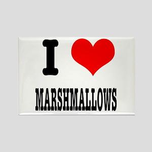 I Heart (Love) Marshmallows Rectangle Magnet