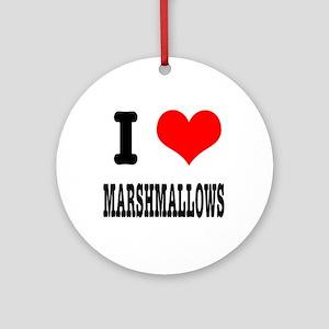 I Heart (Love) Marshmallows Ornament (Round)