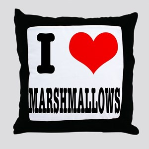 I Heart (Love) Marshmallows Throw Pillow