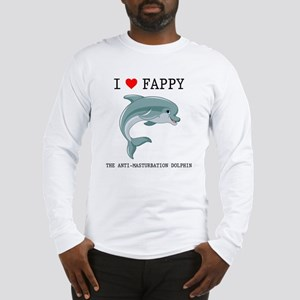 I Heart Fappy, The Anti-Mastur Long Sleeve T-Shirt