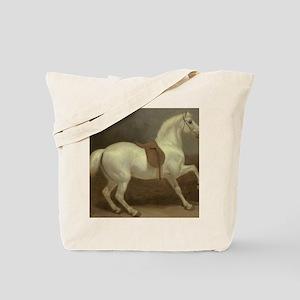 Beautiful White Horse Tote Bag