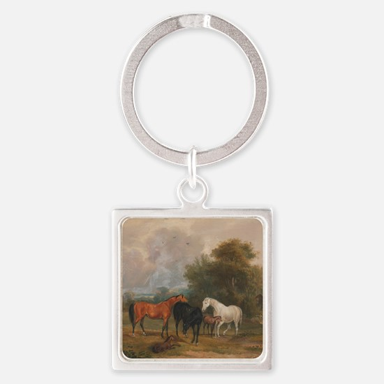 Field Day Square Keychain
