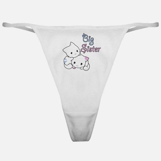 Cute Kitty Big Sister Classic Thong
