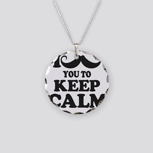 I Mustache You To Carry On Necklace Circle Charm