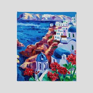 Greek Oil Painting Throw Blanket
