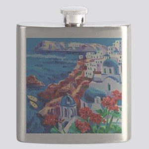 Greek Oil Painting Flask