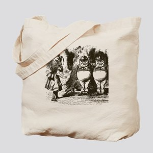 Tweedle Dee and Tweedle Dum Tote Bag