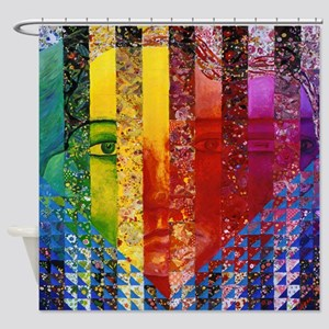 Conundrum I – Rainbow Woman Shower Curtain