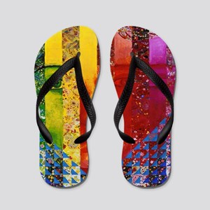 Conundrum I – Rainbow Woman Flip Flops