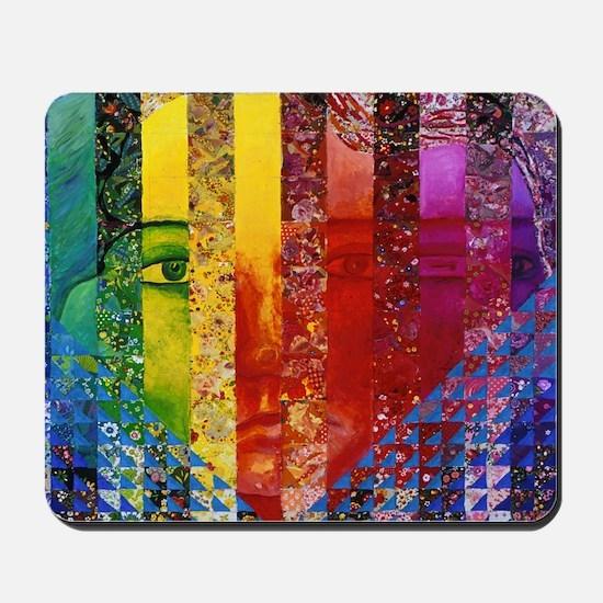 Conundrum I – Rainbow Woman Mousepad