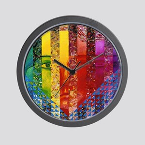 Conundrum I – Rainbow Woman Wall Clock