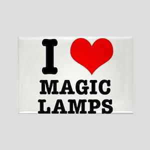 I Heart (Love) Magic Lamps Rectangle Magnet