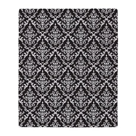 black and white diamond damask throw blanket by admin cp4798650. Black Bedroom Furniture Sets. Home Design Ideas