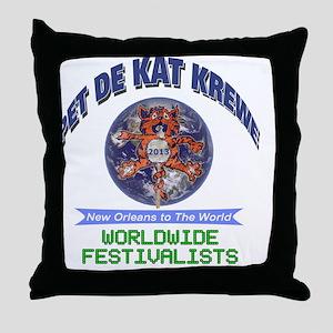 Pet De Kat 2013 Throw Pillow