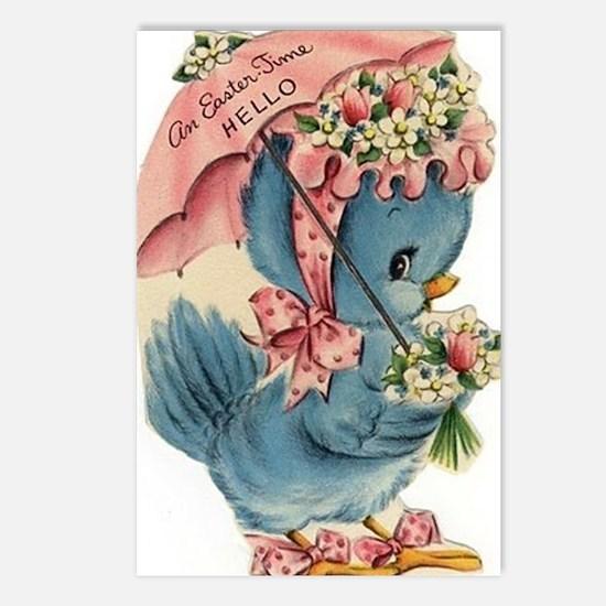 Vintage Easter Blue Bird  Postcards (Package of 8)