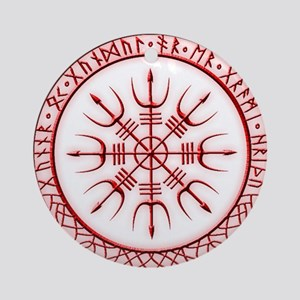 Aegishjalmur: Viking Protection Run Round Ornament