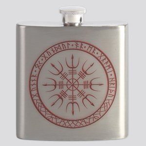 Aegishjalmur: Viking Protection Rune Flask