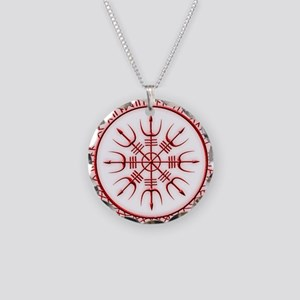 Aegishjalmur: Viking Protect Necklace Circle Charm