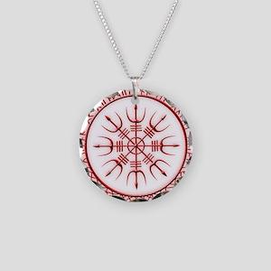 Aegishjalmur: Viking Protect Necklace Circle Charm