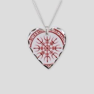Aegishjalmur: Viking Protecti Necklace Heart Charm